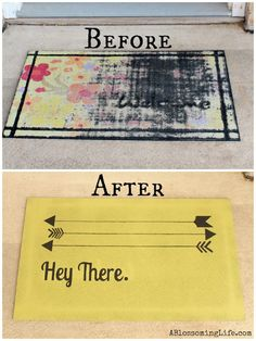 Transform your porch with a fun welcome mat DIY.