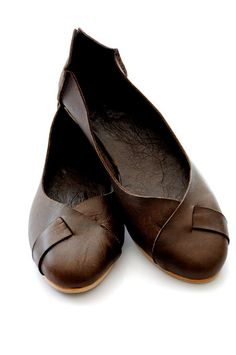 NATIVE. Leather flats / womens shoes / rustic / sizes 35-43. Available in different leather colors.. $90.00, via Etsy.