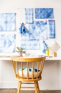Shibori Wall Decor and other #shibori #crafts - Click to learn how!