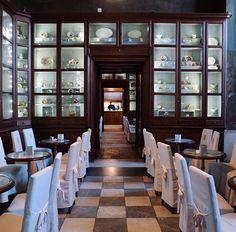 Caffé Reale - Turin, Italy. Source @lestradeditorino on IG Piedmont Italy, Turin Italy, Torino, China Cabinet, Storage, Furniture, Home Decor, Italia, Purse Storage