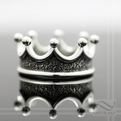 Mens Crown Ring Choose your metal by mooredesign13 on Etsy