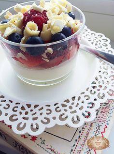 Baking moments: Panna cotta s ovocímAsi najjednoduchší dezert aký ...