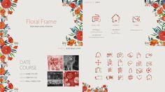 봄날의 파워포인트 템플릿 (Floral frame template)