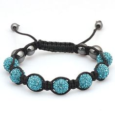 I just bought one very similar Turquoise Shamballa Bracelet Love it