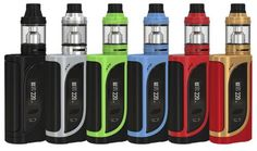 Eleaf iKonn 220 220W TC Kit with ELLO Tank comes with iKonn 220w box mod and ELLO Atomizer, works with dual 18650 batteries and the maximum output power can up to 220W, supports VW/TC modes. The Ello tank has 4ml capacity and retractable top refill system, adopts new HW coils for different vaping needs.