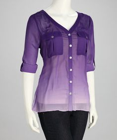Take a look at this Royal Purple Ombre Top by Sienna Rose on #zulily today!