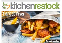 Fried foods are part of the American foodie lifestyle. If it can be battered, it has been fried. Many restaurants offer fried foods on their menus, and the Toastmaster TMFG30 is a great option for many kitchens. This heavy-duty countertop fryer has a 30 lb. fat capacity and can fry up to 65 lbs. of french fries per hour. #CommercialFryer #restaurantequipment #kitchenrestock