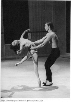 "Allegra Kent and Jacques d'Amboise, Principal dancers, New York City Ballet, in Jerome Robbins' ""Afternoon of a Faun"", 1968"