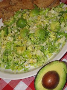 Caesar Salad with Avocado and Rustic Chips - 185 calories - Lose Weight By Eating with Audrey Johns