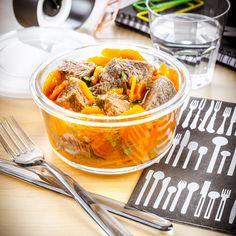 déjeuner au travail recette boeuf carotte au thym à réchauffer companion moulinex lunch box