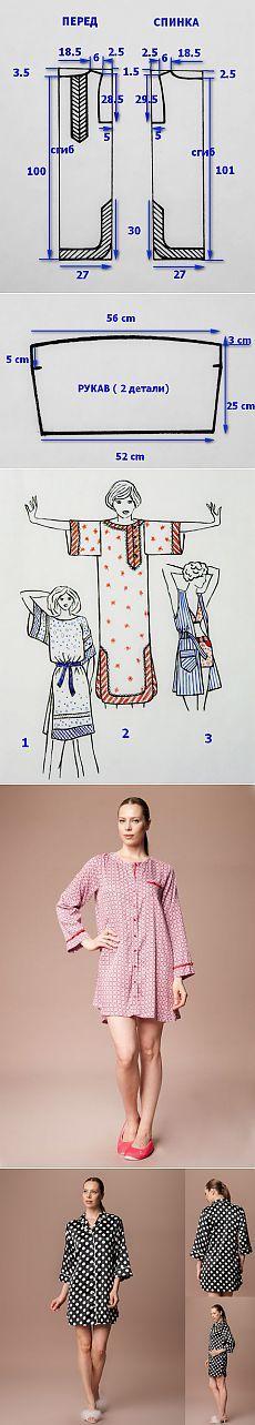 Выкройка платья-туники для женщин   Fusion of Styles