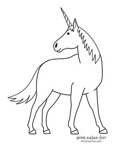 Top 100 magical unicorn coloring pages: The ultimate (free! Happy Unicorn, Magical Unicorn, Rainbow Unicorn, Pennant Banner Template, Pennant Banners, Unicorn Printables, Free Printables, Free Coloring, Coloring Books