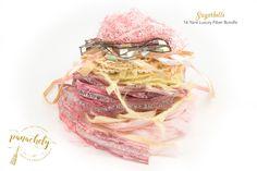 Sugarbelle Fiber Art Yarn. 16 Yard Novelty Yarn, Ribbon and Art Fiber Bundle. by Panachely on Etsy