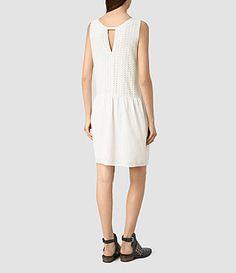Womens Milda Dress (Chalk White) - product_image_alt_text_4