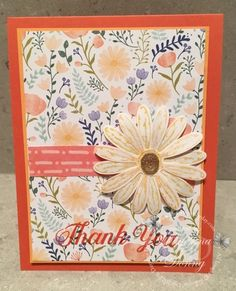 One of the perks of attending OnStage is being able to preorder some of the new products from the upcoming Annual Catalogue. This is a delightful set with a co-ordinating daisy punch! And did I mention that there is a beautiful package of Designers Series Paper that co-ordinates with the stamp set. I loveit – …