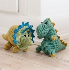 Free Crochet Patterns for Dinosaurs! Skill Level: Intermediate Crochet 2 cute dinos with these free crochet toy/ amigurumi patterns. First up is this adorable t-rex amigurumi pattern. The piece is worked from nose to tail with one seam. Crocheted triceratops dinosaur is worked from nose to tail without a seam. More Patterns Like This!
