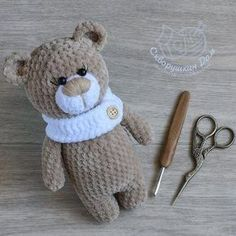 Мишка из плюшевой пряжи крючком #амигуруми #схемыамигуруми #игрушкикрючком #amigurumipattern
