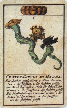 Astronomical playing cards.Germany,XVIII century (1719) faithful reproduction of the original.