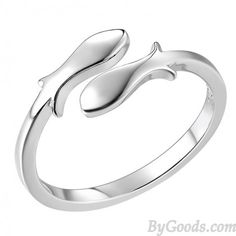 Cheap Constellation Pisces Silver Fishes Finishing Polish Open Ring For Big Sale! Fish Ring, Silver Rings Handmade, Rings For Girls, Open Ring, Cute Rings, Silver Roses, Promise Rings, Vintage Engagement Rings, Constellations