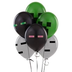 Minecraft Latex Balloons (Enderman,Ghast,Creeper)Minecraft Birthday Party Balloon Decoration Toys 4 Mixed Party Supplies Gift Review Creeper Minecraft, Minecraft Toys, Easy Minecraft Cake, Minecraft Buildings, Minecraft Party Decorations, Balloon Decorations Party, Balloon Party, Minecraft Balloons, Mindcraft Party
