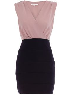 Navy block dress...need to hit the gym more!