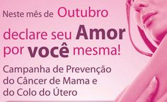 Outubro Rosa Imagem 1 Peace Love And Understanding, Pink October, Breast Cancer, Peace And Love, Words, Health, 1, Israel, Digital Marketing