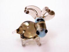 Small Glass Donkey Animal Figurines Miniature Gift Blown Sculpture Art Collectible Artglass Lampwork Mini Donkey Little Glass Animals Murano