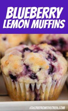 Frozen Blueberry Muffins, Lemon Cranberry Muffins, Lemon Muffins, Blue Berry Muffins, Frozen Blueberry Recipes, Recipe For Lemon Blueberry Muffins, Lemon Blueberry Cakes, Blueberry Cream Cheese Muffins, Frozen Blueberries