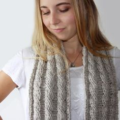 Reversible Cable Scarf Pattern available at LoveCrochet. Find more accessories inspiration at LoveCrochet. Crochet Scarves, Crochet Clothes, Kim Miller, Knitting Patterns, Crochet Patterns, Front Post Double Crochet, Head And Neck, Learn To Crochet, Womens Scarves