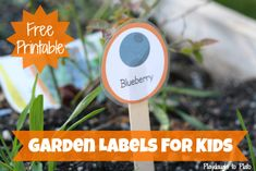 Free printable garden labels for kids. {Playdough to Plato}