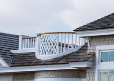 Gorgeous roof-top balcony and railing.  Visit itexmillwork.com