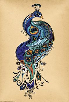 Peacock Fine-Art Print by Green Girl Canvas at UrbanLoftArt.com