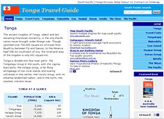 A travel guide to the Kingdom of Tonga from Moon Handbooks South Pacific by David Stanley.