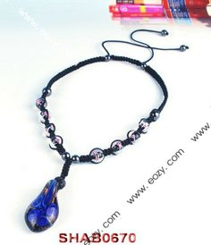 Royal Blue Disco Ball Necklace Jewelry Findings with Pendant