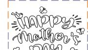 happy mothers day coloring page for kids to print out. Free online mothers day coloring in sheets printable. mothers day coloring pages cards Bat Coloring Pages, Mothers Day Coloring Pages, Free Printable Coloring Pages, Free Printables, Writing Practice Worksheets, Tracing Worksheets, Strawberry Shortcake Coloring Pages, Number Formation, Mother's Day Colors