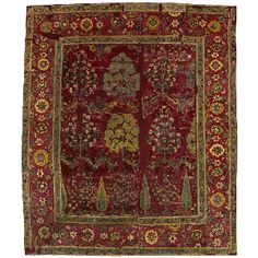 Northern Indian, reign of Shah Jahan (1628-1658) Carpet with Tree Pattern, c. 1650