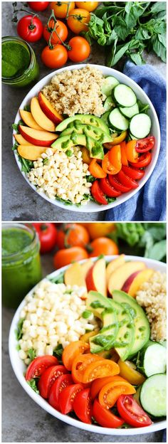 Summer Quinoa Bowl Recipe on twopeasandtheirpod.com. This healthy quinoa bowl is the perfect summer meal!