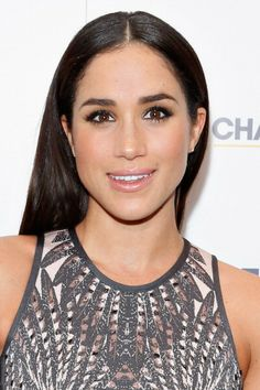 Meghan Markle at the Characters Unite NFL Event. Makeup by Daniel Martin.