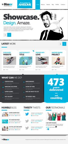 Bizzex Free PSD Template by donkeythemes on DeviantArt
