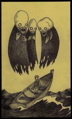 Image de don kenn, john kenn, and john kenn mortensen Scary Art, Post It Art, Illustration, Art Drawings, Drawings, Art, Don Kenn, Monster Art, Monster Drawing