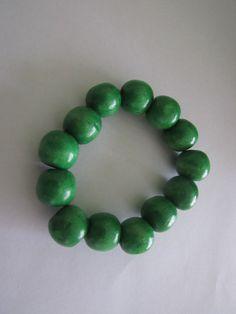 Wood beads bracelet - Dark green. More colour :)