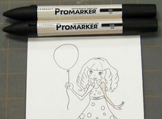 Tuesday Tutorial - Coloring with Letraset ProMarkers 101 Pro Markers, Alcohol Markers, Copic Markers, Spectrum Noir Markers, Its A Girl Balloons, Coloring Tips, Coloring Tutorial, Coloured Pencils, Copics