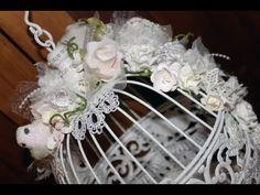 Shabby Chic Altered Birdcage - Lavish Laces Guest DT Sept