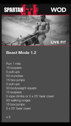 Trainer Brad Gouthro takes you through a fantastic cardio workout you can do right in your own home. This workout is great on its own or you can add it to the Spartan Race Training, Spartan Workout, 300 Workout, Muscle Training, Cross Training, Sparta Training, Tough Mudder Training, Workout Plans, Fitness Workouts