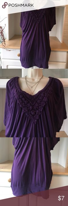 Re-Posh lovely purple tunic Re-Posh tunic/shirt – only selling because it does not fit the way I like for what I planned on wearing it with. In good condition, great detail around collar and nice purple shade! Decree Tops Tunics