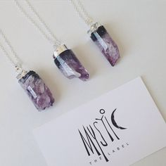 """mysticthelabel • LILAC DREAM • An absolutely stunning amethyst druzzy on an 18"""" sterling silver necklace!  Simply beautiful, each piece is a different size and vary in colour which makes it unique to the buyer! No two stones are the same."""