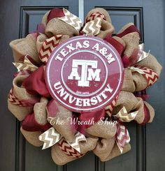 Texas A&M Burlap Wreath by CreationsbySaraJane