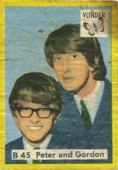 Peter and Gordon on a vintage matchbox label