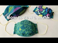 How to make a three-dimensional mask with one piece of cloth / How To Sew A Mask / For children / Easy without paper pattern / Sewing Tutorial / Pikku Saari – face mask Sewing Projects For Beginners, Sewing Tutorials, Sewing Hacks, Sewing Patterns, Sewing Tips, Diy Mask, Diy Face Mask, Fabric Crafts, Sewing Crafts