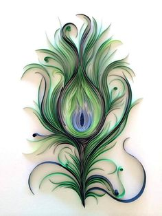 Quilled Peacock Feather | Created by Ashley Chiang. Blogged:… | Flickr